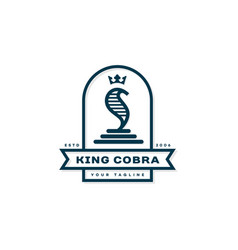 king cobra label vector image