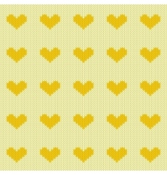 Knitted hearts seamless pattern vector image vector image