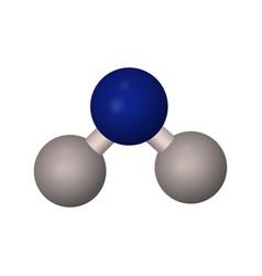 molecular formula of water h2o vector image