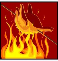 roast chicken icon vector image