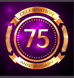 seventy five years anniversary celebration with vector image vector image