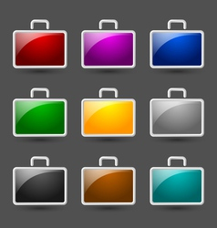 Suitcase icons vector image vector image