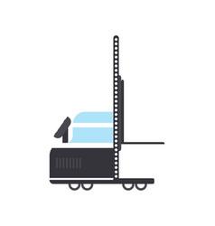 warehouse hand truck in flat design vector image