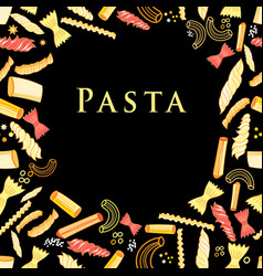 background with tasty pasta vector image vector image