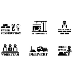 concept building icons vector image