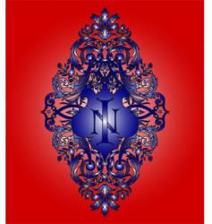 heraldry monogram vector image vector image