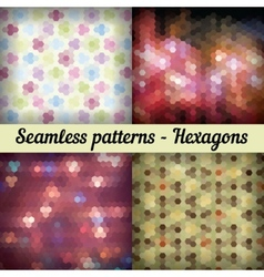 Hexagons Set of seamless patterns Abstract vector image vector image