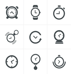 Time Clock Icons Set Design vector image vector image