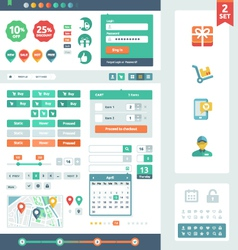 Ui elements for web and mobile vector