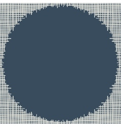 Abstract canvas hole grungy frame vector image