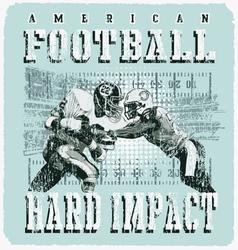 american football player impact vector image vector image