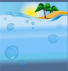 An island and the ocean vector