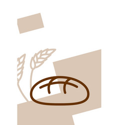 Bakery template design blank poster bread and vector
