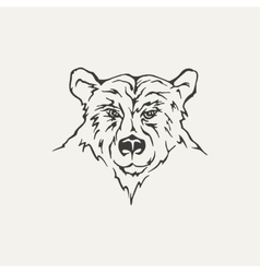 bear Black and white style vector image vector image