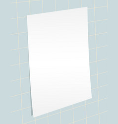 blank paper template vector image