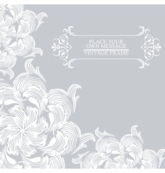 Elegance vintage card place for text or message vector image