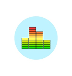 Indicator icon diagram icon vector image