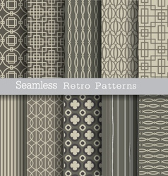 set seamless pattern retro vector image vector image