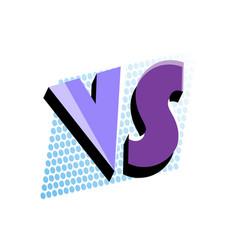 versus logo in pop art style vector image