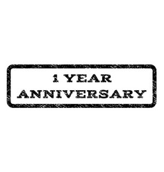 1 year anniversary watermark stamp vector