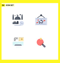 4 user interface flat icon pack modern signs vector