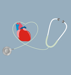 A concept for health of heart stethoscope in vector