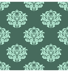 Abstract arabesque green seamless pattern vector image