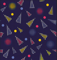 abstract texture from circles triangles and vector image
