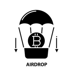 Airdrop icon black sign with editable vector