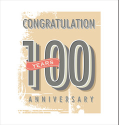 Anniversary banner collection 100 years vector