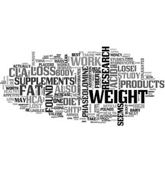 are weight loss supplements worth it text word vector image vector image