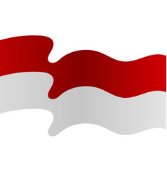 Background red and white flag is flying vector