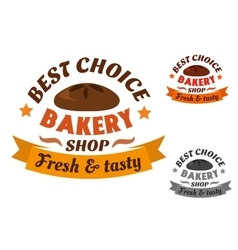 Best choice bakery shop label vector