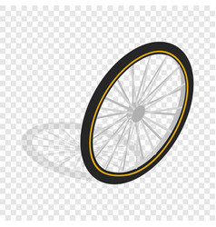 bicycle whee isometric icon vector image