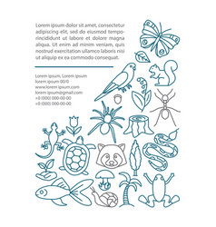 biodiversity article page template vector image