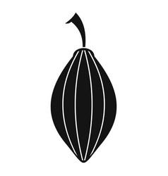 Black cardamom pod icon simple style vector