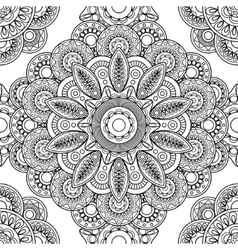 Boho doodle seamless pattern vector image