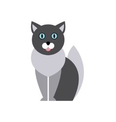British Blue Cat Breed Primitive Cartoon vector image