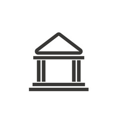 Building bank safe money financial symbol vector