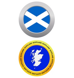 button as a symbol map SCOTLAND vector image
