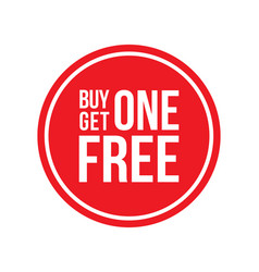 Buy one get one off sign circular vector