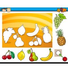 Cartoon educational task for children vector