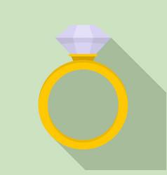 ceremonial diamond ring icon flat style vector image