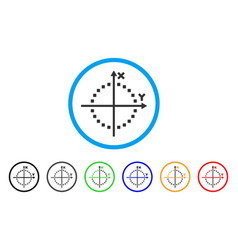 circle plot rounded icon vector image