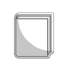 Closed book icon image vector