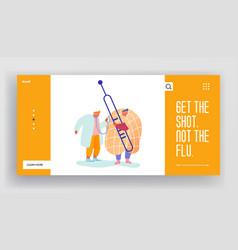Concept virus flu disease website sick man need vector