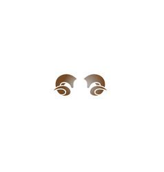 creative abstract ram horn logo symbol vector image