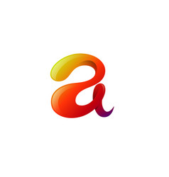 creative advance colorful glossy letter a logo vector image