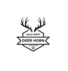 deer horn logo design inspiration vector image