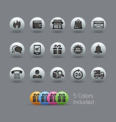 E-Shopping Icons Pearly Series vector